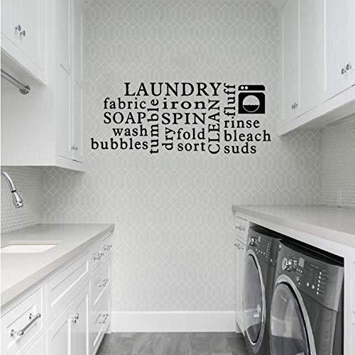 Yzybz76,2 Cm * 30,2 Cm Waschküche Seife Falten Spülen Schaum Trockenschleudern Art Decor Pvc Wandaufkleber -
