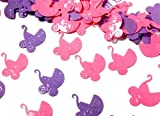 Folien-Konfetti Kinderwagen rosa / flieder, ca. 15 gr.