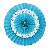 Funcart Baby Blue 3 Layers Paper Fan Kit...