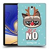 Head Case Designs Ufficiale Grumpy Cat Let It No Grumpmoji Natale Cover Retro Rigida per Samsung Galaxy Tab S4 10.5 (2018)