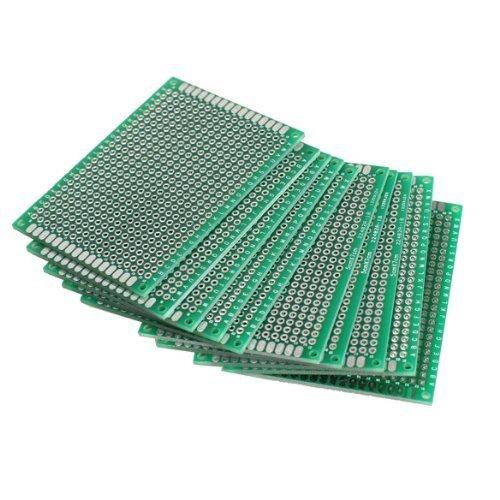 Preisvergleich Produktbild XT-XINTE 10Stk. 5x7cm Lochrasterplatte Lochrasterplatine Leiterplatte Streifenraster Platine PCB Board