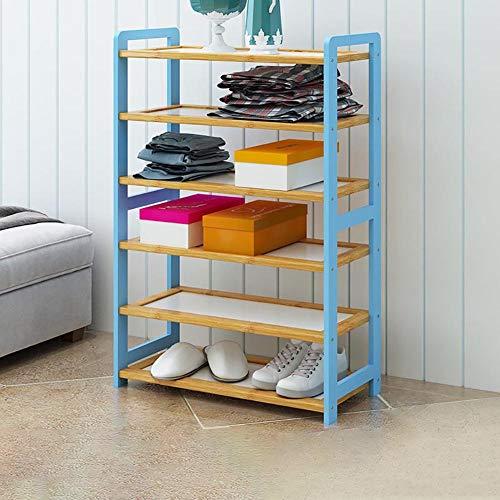Shoe rack Schuhregal_4/5/6-lagiges europäisches Multifunktionsgestell (mehrere Auswahlmöglichkeiten) blau
