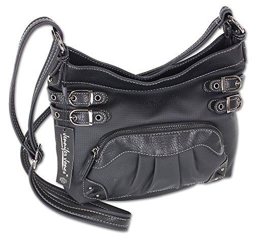 12134c9796eab Jennifer Jones Taschen Damen Damentasche Handtasche Schultertasche  Umhängetasche Tasche klein Crossbody Bag hellgrau   jeans-