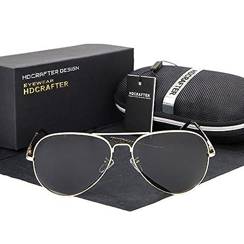 Hommes, lunettes de soleil, élégant, décontracté, en plein air, jaune grand cadre, S80123
