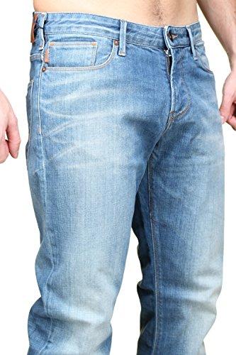 Jeans Uomo ARMANI 6X6J06 6D03Z Denim Slim fit Autunno Inverno 2016 Blau