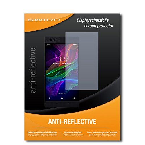 SWIDO Schutzfolie für Razer Phone [2 Stück] Anti-Reflex MATT Entspiegelnd, Hoher Härtegrad, Schutz vor Kratzer/Bildschirmschutz, Bildschirmschutzfolie, Panzerglas-Folie