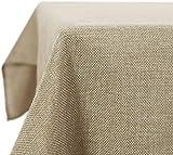 Deconovo Tovaglia Rettangolare Impermeabile in Tessuto Finto Lino Decorazione per Feste 132x229cm Lino