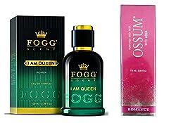FOGG I AM QUEEN PERFUME 90 ML+ OSSUM ROMANCE DEODORANT 115 ML