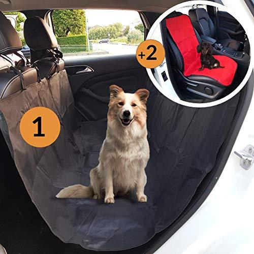Efficient Pets Coprisedile Anteriore e Posteriore per Cani Automobile (Rosso)