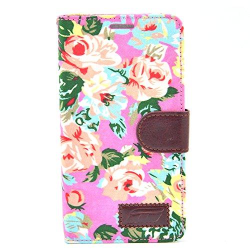 Apexel Calico Pattern-Custodia in pelle con supporto, pennino e porta-carte, per Samsung Galaxy Note 4, colore: nero rosa