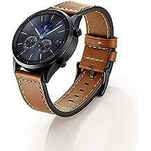 elobeth pour Samsung Gear S3Frontier/Classic Watch Bracelet–Cuir Sport Montre Bracelet Bande Strap bande erstatz Bracelet de Montre pour Samsung Gear S3Classic/Frontier Samrt Watch, (pas pour Gear S2Classic), Leder 2 Braun