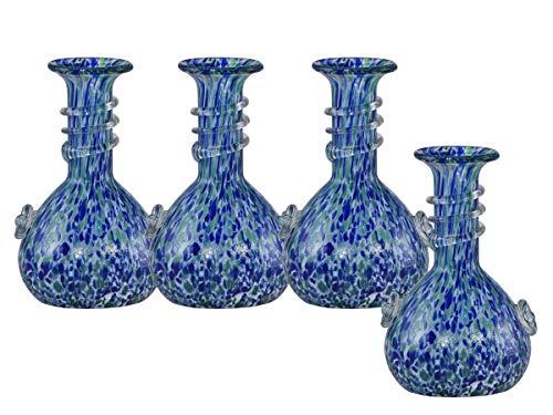 Springdale by Dale Tiffany Sacria Art Mini-Vase, Glas, Blau, Grün und Weiß - Tiffany-glas-vase
