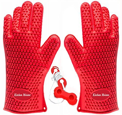 silicone-oven-bbq-and-pot-holder-glove-set-set-of-2-red-includes-1-silicone-earphone-winder