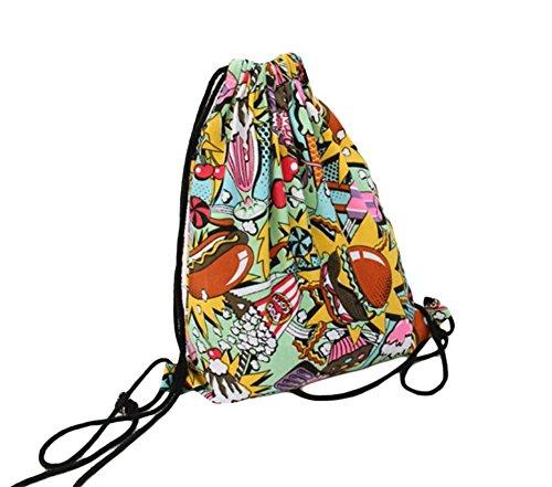 Leisial Bolso de Cordón Lona Mochila Bolsa de Compras de Lona Bolsas de Deporte Bolsa de Deporte Cinch Sack para Hombres Mujeres