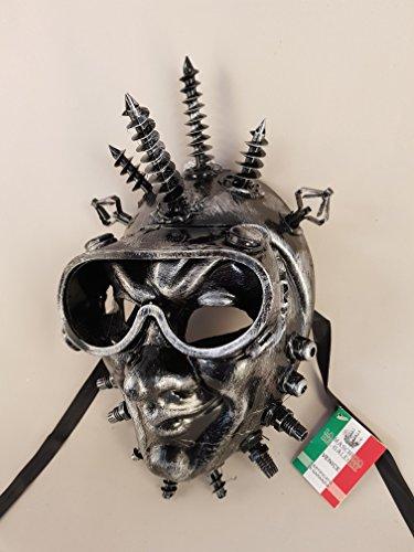 Venetian Mask Joker SteamPunk, máscara de carnaval (plata)