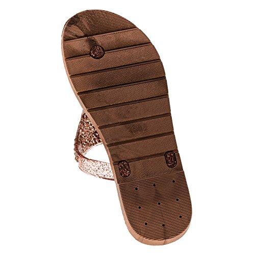 Zehentrenner Damen Flip Flops Mädchen Sommer Sandalen Schwimmbad Schuhe Seepferdchen -Muster (EU 36-37, Blau)