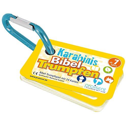 °*8023 KARABINIS Mini-Spiele BIBEL-TRUMPFEN GELB mit Spielanleitung