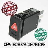 Warnblinkleuchte Schalter Blinker Relais Blinkerrelais Taster OEM 3B0953235B