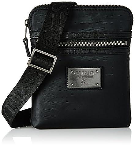 Guess Heritage, sac messenger homme - noir - noir, 1.5x20x16 cm (W x H x L) EU