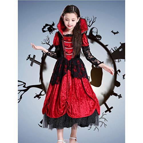 Girl Kleinkind America Kostüm Captain - HCFKB Halloween-Kostüme for Mädchen Scary, Girls Vampire Princess Dress Masquerade (Size : M)