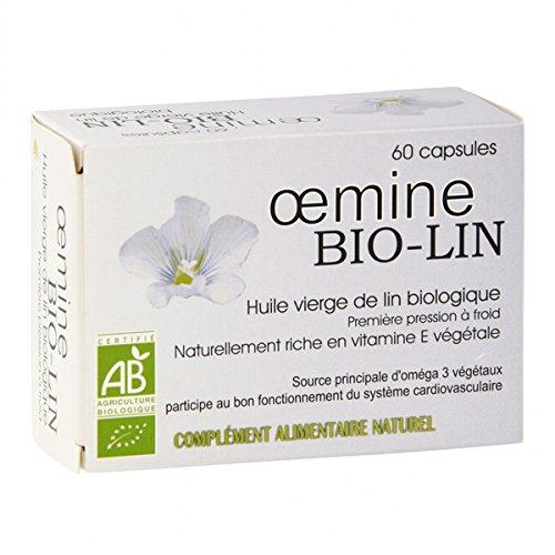 Oemine Bio Lin, Huile de Lin biologique - 60 capsules