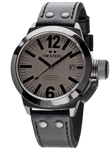 TW Steel - TWCE1051 - Montre Mixte - Quartz Analogique - Bracelet Cuir Noir