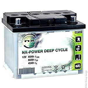 NX - Batterie plomb ouvert NX Power Deep Cycle 12V 65Ah C100 - Batterie(s)