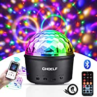 CHOELF Luces Discoteca, Bola de Discoteca Luz Nocturna con Altavoz Bluetooth, 9 LED Luz Fiesta Disco Ball Lámpara con Mando a Distancia, Iluminacion para Cumpleaños Fiestas Infantiles Bodas Navidad