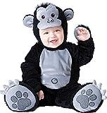 Costume carnevale gorilla bebè travestimento carnevale halloween cosplay neonato tuta copriscarpe cappuccio costume bambino tuta intera da vestire sotto costume animale (18/24 mesi)