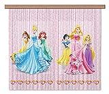 AG Design Gardine – Vorhang – Fotogardine - Kinderzimmer Disney Prinzessin - 180 x 160 cm – 2 Teile - FCS XL 4372