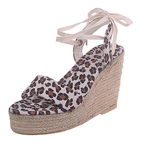 LuckyGirls Chic Sandalias Mujer Plataforma Cuña Verano 2020 Zapatos Mujer Tacon Altas Elegantes Sandalias...