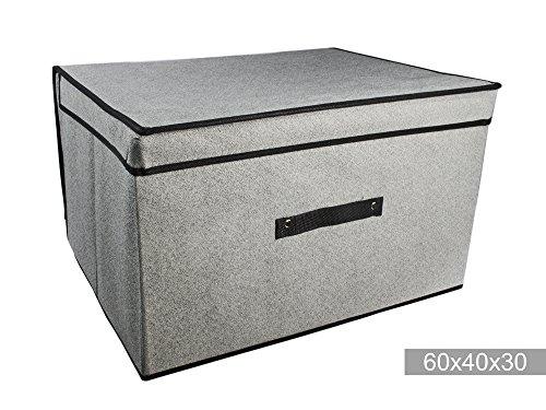 Vetrineinrete Scatola abiti box salvaspazio per armadio organizzatore contenitore per vestiti scatole in tessuto per cambio di stagione (60x40x30 cm) F11