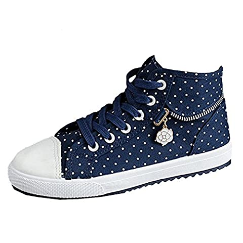 Scothen Femmes Filles Chaussures Sneakers Classique Low Top Chaussures sport Sneakers espadrilles chaussures toile jacquard fleurs chaussures hautes toile espadrille plein air SportyHigh Top