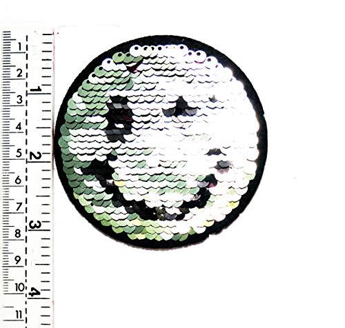 87d2d7b5d47f0 3 x 3 Color Cambio Plata y Oro Happy Smile Smiley Cara Lentejuelas Shine  Chaleco/