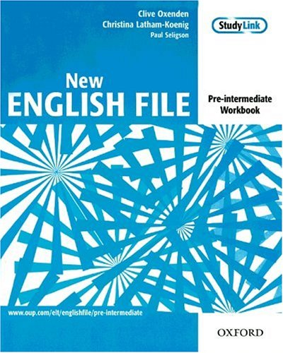 New English File Pre-Intermediate Workbook without