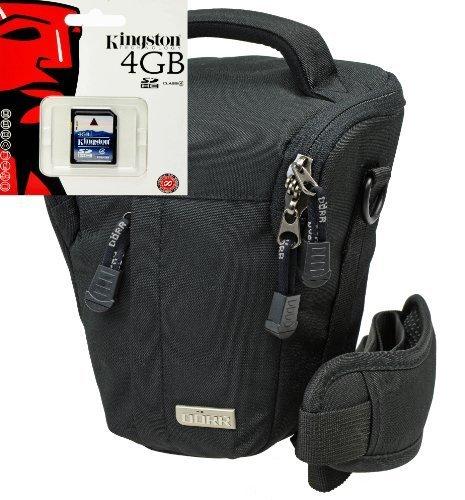 Foto Tasche Kamera Bag BLACK STONE PRO Halfter XL mit 4GB SD Karte