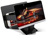 Universal tragbarer Falten Smartphone 3D Screen Magnifier für alle Smartphone Arten. Smartphone Bildschirm Vergrößerungslupe mit 3D Effekt. SCHWARZ BLACK