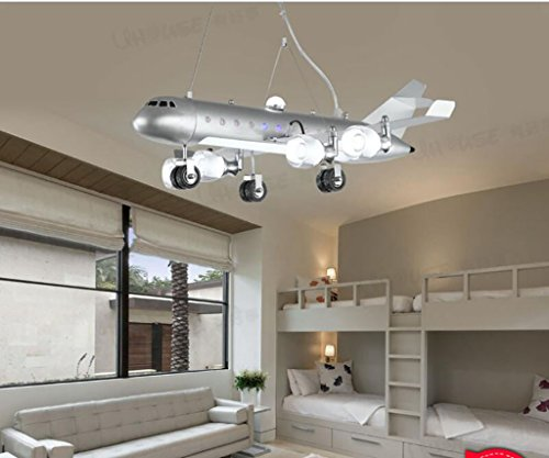 Antik Weiß Deckenventilator (Deckenleuchten Kinderzimmer Kronleuchter junge Schlafzimmer LED Augenschutz kreative Cartoon Vergnügungspark Flugzeug Lichter Kronleuchter aus Holz ( Farbe : Weiß ))