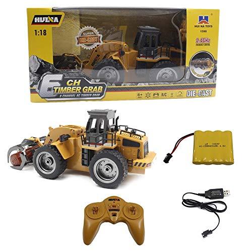 RC Auto kaufen Baufahrzeug Bild 6: Motto.H RC Baufahrzeuge,1:18 2.4G Baufahrzeuge Ferngesteuert, Metall Gabel Fernbedienung Greifer Engineering Lkw Kinderspielzeug*