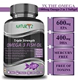 Naturyz Fish Oil 1400Mg (Triple Strength) With 1000Mg Omega 3 (600Mg Epa, 400Mg Dha) - 60 Softgels