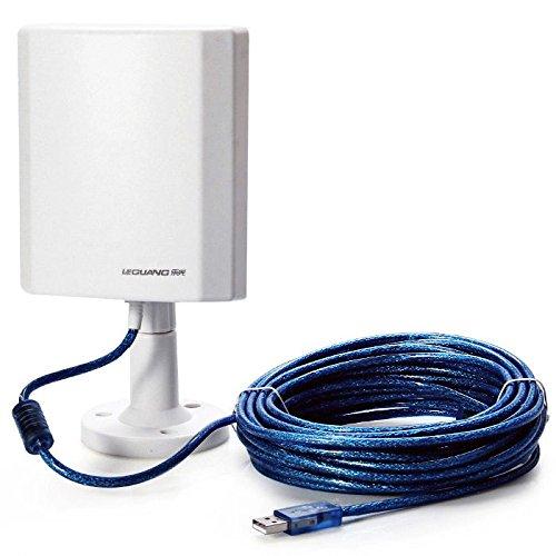 Antena WiFi de Exterior de Largo Alcance USB 150 Mbps con Adaptador Inalámbrico LEGUANG N120 10 METROS