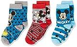 Disney Mickey Mouse Calzini, Multicolore (Pack2 18-1763TPX), 8-9 Anni Bambino