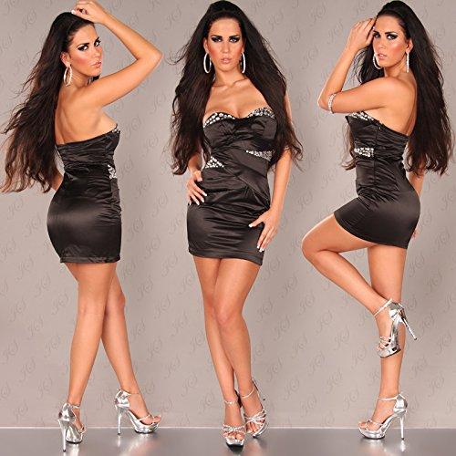 In-Stylefashion - Robe - Femme Argenté Argent Noir - Noir