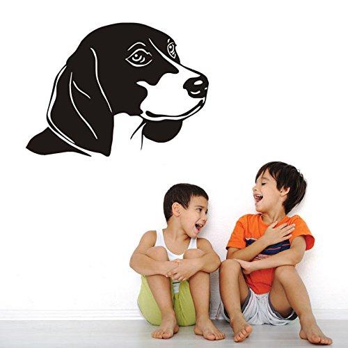 57X42 cm Lebendige Hund Vinyl Wandaufkleber Für Kinder Schlafzimmer Removable Home Design Aufkleber Tiere Tapete Wasserdichte Wand Stick SA110