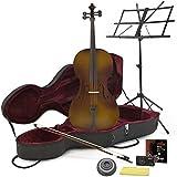 Cello in 3/4-Größe in Antique Fade - mit Koffer und Anfängerausstattung