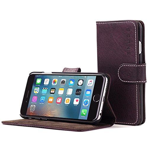Snugg iPhone 6 Plus und 6S Plus Hülle, Apple iPhone 6 Plus und 6S Plus Handyhülle mit Kartenfach und Standfunktion - Amethystviolette, Legacy Range