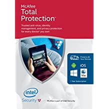 McAfee Total Protection with Latest Updates for Unlimited Devices- Award Winning Protection For Every Device You Own (FFP) (PC/Mac/Android/iOS)