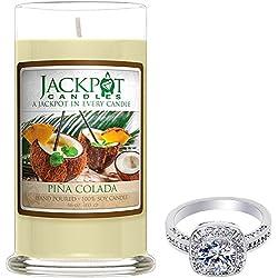 Pina Colada vela con anillo interior (sorpresa joyas valorado en $15A $ 5,000) Anillo Tamaño 8
