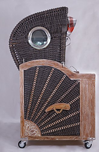 Strandkorb Kampen Spezial Old Style 2,5-Sitzer Mocca Bullauge