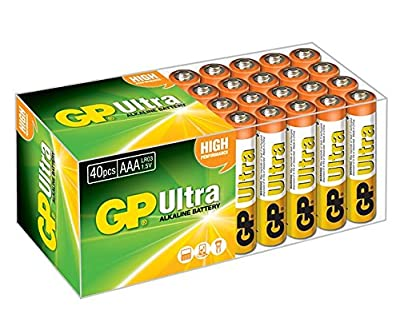 GP Batteries Ultra Alkaline AAA | Superb operating time | Battery Can Be Used Across All Devices | Shelf Life Up TO 7 Years...
